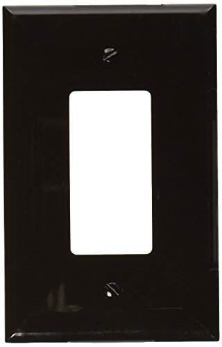 [Morris 81822 Lexan Wall Plate, Oversize Decorative GFCI, 1 Gang, Brown] (Oversize Light Switchplates)