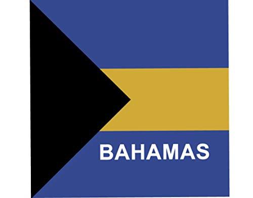 (BUNFIREs ONE Bahamas Flag Bahamian Bandanna Biker DURAG Head WRAP Scarf Large Size: 22 X 22)