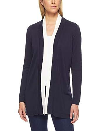 Calvin Klein Women's Long Sleeve Cardigan, Twilight & Soft White, XS
