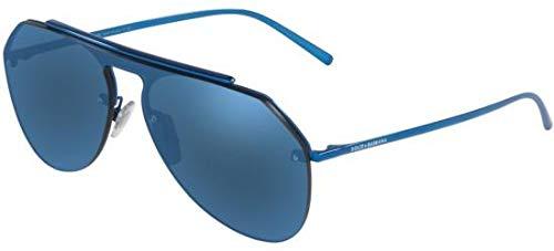 Dolce & Gabbana Men's DG2213 Blue/Dark Blue Mirror One Size (Blue Dolce Gabbana Men)