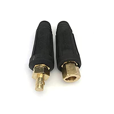KINGQ Welding Lead Cable Joint Quick Connector Pair DINSE-Style 200Amp-300Amp (#4-#1) 35-50 SQ-MM 2-set