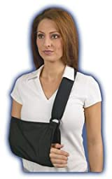 Med Spec Padded Arm Sling with soft padded shoulder strap, Black, Universal