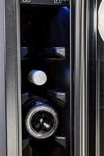 BRGJC7 - Frigorífico para botellas de vino (7 botellas, 22 L, 6 estantes, temperatura ajustable de 5 °C a 20 °C)
