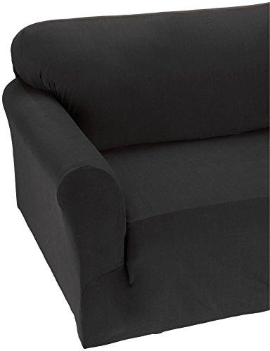ction Luxury Soft Furniture Jersey Stretch SLIPCOVER, Sofa Black ()