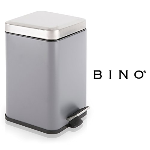 STAINLESS STEEL PEDAL SQUARE TRASH BIN - 7