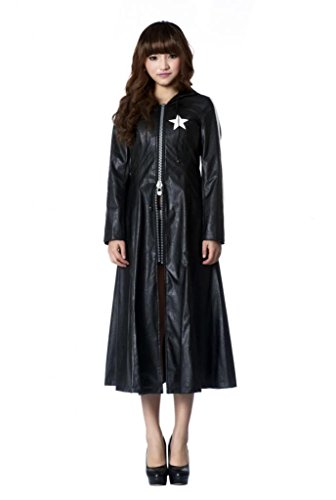 Mtxc Women's Black Rock Shooter Cosplay Coat