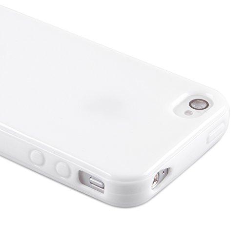 deinphone iPhone 44S Coque en silicone blanc