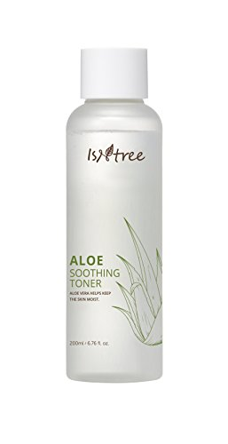 Sensitive Skin Soothing Serum - ISNTREE Aloe Vera Soothing Facial Toner for Dry and Sensitive Skin 200ml, 6.762 fl. oz. Natural Moisturizer | Deep Moisturizing | Hypoallergenic