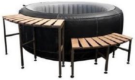 Muebles de acompañamiento para spa hinchable escalera y mesa: Amazon.es: Jardín