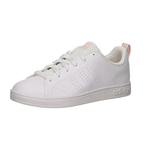 adidas Damen Vs Advantage CL W Fitnessschuhe Elfenbein (Ftwr White/ftwr White/haze Coral S17 Ftwr White/ftwr White/haze Coral S17)
