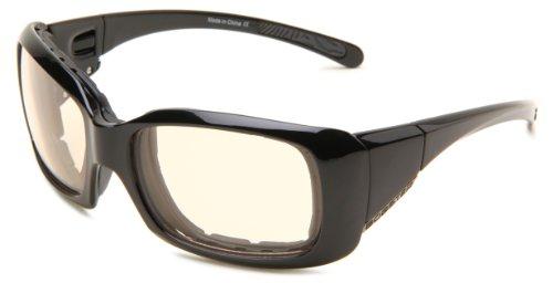 Bobster Ava Convertible Rectangular Sunglasses, Black Frame/Photochromic Anti Fog - Goggles Rectangular