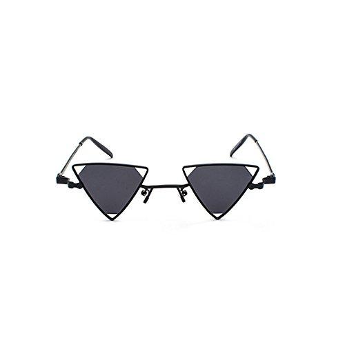 decoración 2018 Mujeres bastidor mujer Vintage 7 negro bastidor gafas Triángulo de Parte rojo Punk para rosa amarillo de de de sol ZHANGYUSEN gafas metal sol té UCHxwU1q