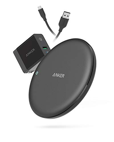 Anker PowerWave 7.5 Fast Wireless Charging Pad with Internal Cooling Fan, Qi-Certified, 7.5W Compatible iPhone Xs Max/XR/XS/X/8/8 Plus, 10W Charges Galaxy S9/S9+/S8, LG G7 (with Quick Charge Adapter)