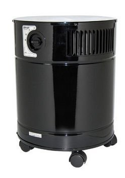 AllerAir A5AS21234111-BLK Black 5000 D Vocarb UV HEPA and Carbon Air Cleaner with 24 lb Vocarb Deep Bed Carbon Filter and UV Sterilization