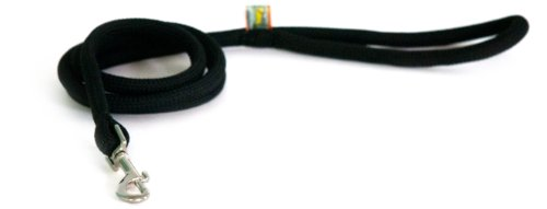Design Dog Lead (Yellow Dog Design Round Braided Lead for Dogs, 3/4-Inch, Black)