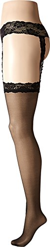 - Calvin Klein Hosiery Ultimate Sexy Lace Garter Stockings, C, Black