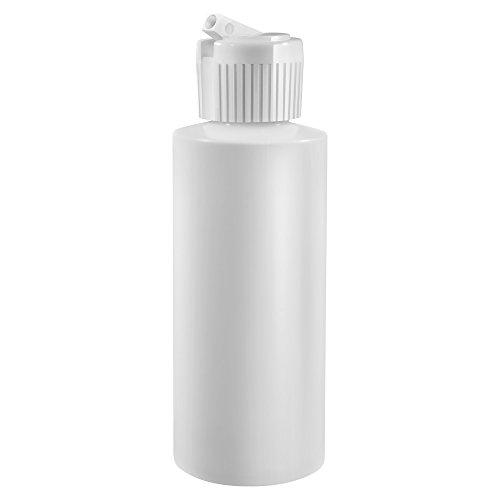 2 Oz Plastic Cylinder Bottles with Flip Top Pour Spout, Pack of 12
