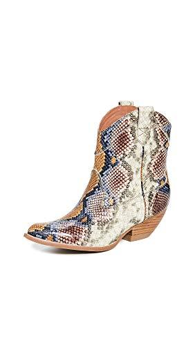 - Jeffrey Campbell Women's Calvera Western Boots, Grey/Wine, 6.5 M US