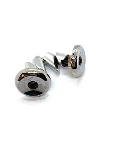 Liberty Pro Scooters Aluminium Bar End Plugs for Bikes and Scooters (Chrome)
