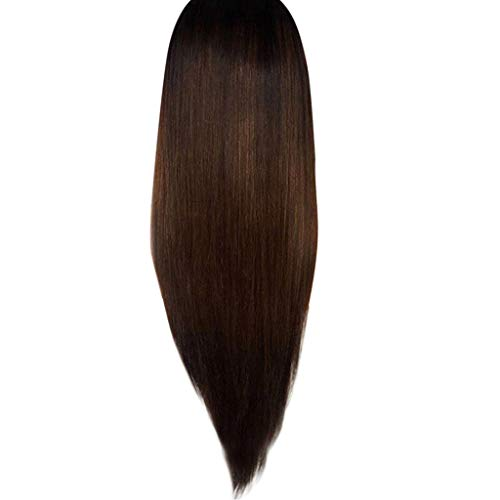 US shipment Clearance Fashion Synthetic Long Gradient Black Brown Straight Natural Hair Full Wigs by USLovee3000
