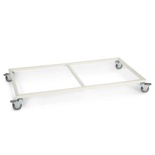 ProSelect Steel Modular Cage Base with Wheels, Ivory