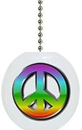 Peace Sign Ceramic Fan Pull
