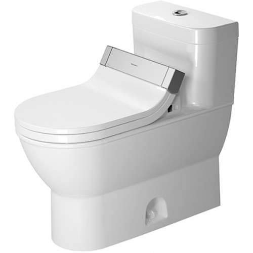 - Duravit Darling New Elongated One Piece Toilet 21235100051 White Alpin