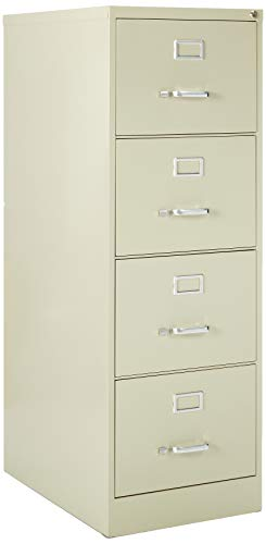 Lorell 4-Drawer Vertical File, 18 by 26-1/2 by 52-Inch, Putty ()
