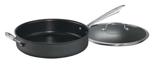 Cuisinart DSA33-30H Dishwasher Safe Hard-Anodized 5-Quart Saute Pan with Helper Handle and Cover