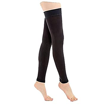 67a0fa9312 Thigh High Compression Stockings Opaque, 1 Pair, Firm Support 20-30 mmHg  Gradient