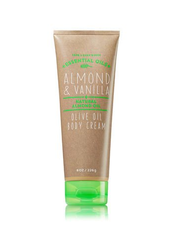 Bath & Body Works Oilve Oil Body Cream Almond & Vanilla, 8 oz.