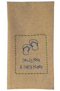 Sandy-Toes-Salty-Kisses-Hand-Embroidered-Cotton-Kitchen-Towel