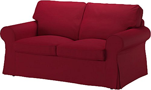 The Ektorp Two Seater Sofa Bed Cover Replacement is Custom Made for IKEA Ektorp 2 Seater Sleeper Only, A Quality Sofa Slipcover Replacement (Wine Red Cotton)