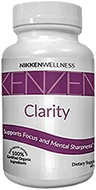 Nikken 1 Kenzen Clarity 15461 – 100 Organic Fermented Blend to Support Focus and Mental Sharpness, for Student, Professionals, and Even Seniors – 60 Capsules