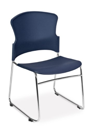 - OFM Multi-Use Stack Chair with Plastic Seat, Back and Navy