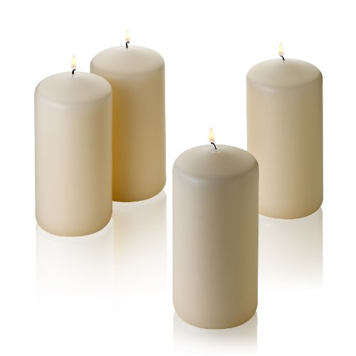 Vanilla Square Pillar (French Vanilla Pillar Scented Candles 6