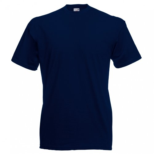 Dark Blue Shirt maniche Fruit Loom Of Men Basic a modello corte Navy Valueweight The T wC7A1x76q