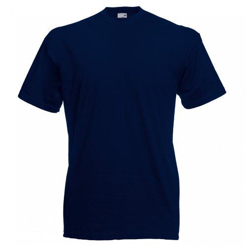 corte modello Valueweight The Men maniche Dark T Basic Blue Fruit a Loom Shirt Of Navy HzqxU1T