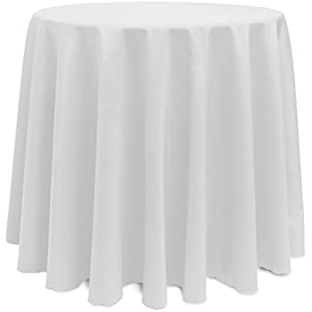Ultimate Textile 90 Inch Round Polyester Linen Tablecloth White