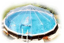 Sun Dome Pool Cover - 12 x 18 Oval 14 Panel ()