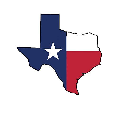 Morgan Graphics Texas Shape State Flag Sticker Decal Vinyl America American Gods Country Bush Vinyl Decal Sticker Car Waterproof Car Decal Bumper Sticker ()