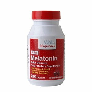 Walgreens Mélatonine 3mg, Dissoudre rapide comprimés, Cerise, 240 ch