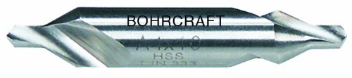 Bohrcraft Centre Drill Bit DIN 333 Form A 60 Degree HSS 4.0 mm in Quadro Pack (1 Pack of 16000300400