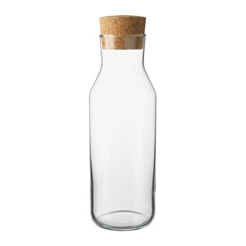 Ikea 365 (34 Oz) Clear Glass Carafe With Cork Stopper, Ideal For Hot and Cold Water Pitcher, Tea/Coffee Maker, Iced Tea, Beverage Pitcher As Well As for Serving Wine by Ikea 702.797.20
