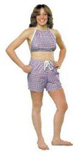 Dipsters patientwear, women's bibb-top w/shorts, large, dozen