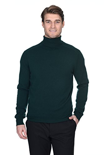 - State Fusio Men's Cashmere Wool Turtleneck Long Sleeve Pullover Sweater Premium Quality