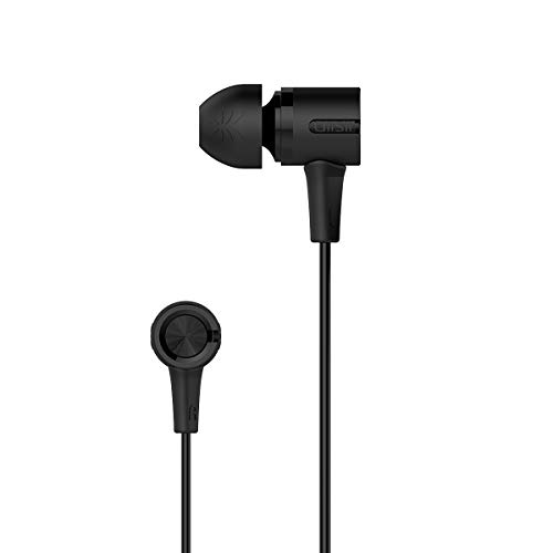 UiiSii Wired Earphones, Earbuds with Mic, in-Ear Headphones for Smart Phone Compatible with 3.5 mm Jack, Crystal Clear Sound, Ergonomic Comfort-Fit (Black)