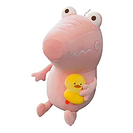 FidgetGear 8 Inch Crocodile Plush Toy Stuffed Animal with Yellow Duck Pink 28 cm