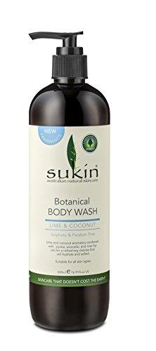 Jojoba Oil Moisturising Body Wash (Sukin Botanical Body Wash - Lime & Coconut 500ml by Sukin)