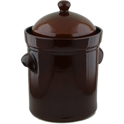 15L Fermenting Crock Pot (4 gal) Brown by Polmedia Polish Pottery